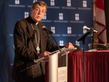 Archbishop Allen H. Vigneron speaking April 25, 2019 at The Catholic University of America.
