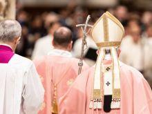Pope Francis celebrates Gaudete Sunday Mass with Rome's Filipino community Dec. 15, 2019.