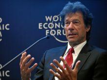 Imran Khan, chairman of Pakistan Tehreek-e-Insaf, speaks at the World Economic Forum meeting in Davos, Switzerland, Jan. 26, 2012.