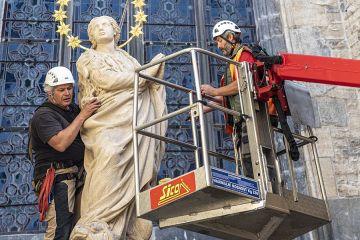 Marian column restored in Old Town Square in Prague June 4 2020 Credit Petr lek CC BY SA 40