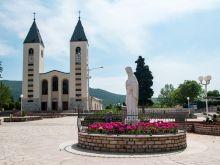 The Church of St. James in Medjugorje, Bosnia and Herzegovina.