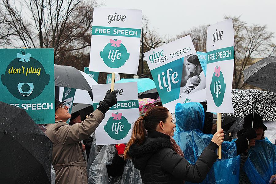 NIFLA pro-life rally in Washington, D.C. on March 20, 2018.