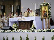 Pope Francis celebrates Mass in Sofia, Bulgaria May 5, 2019.