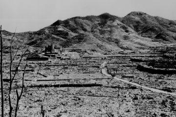 Roman Catholic cathedral on a hill in Nagasaki Ca circa 1945 77 AEC 52 4459 Credit archivesgov CNA 8 6 15
