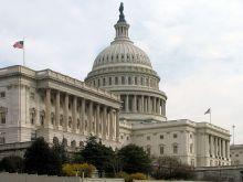 U.S. Capitol, Senate side, public domain.