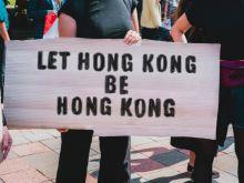 Protestors in Hong Kong.