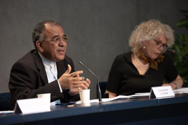 Fr. Joshtrom Isaac Kureethadam speaks at Vatican press conference May 24, 2021 / Daniel Ibanez/CNA